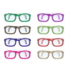 set of color glasses vector image vector image
