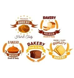 Bakery shop product labels set vector image