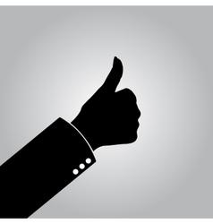 Gray good job icon vector image