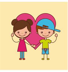 Happy friendship children vector