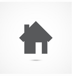 home icon on white vector image vector image