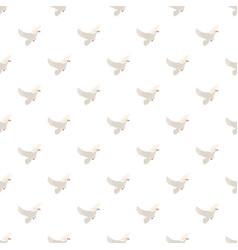 White pigeon pattern vector