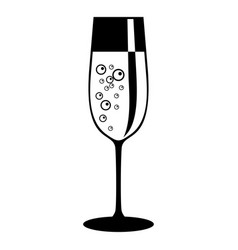 champagne glass icon black vector image vector image