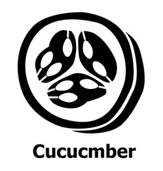 cucumber icon simple black style vector image