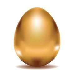 Golden egg vector