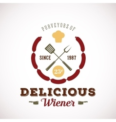 Purveyors of Delicious Wiener Hot Dog Vintage vector image vector image