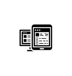 shop app icon flat design vector image vector image