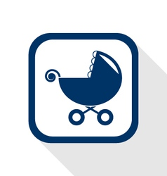 stroller flat icon vector image vector image