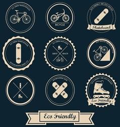 Urban Transportation Label Design vector image vector image