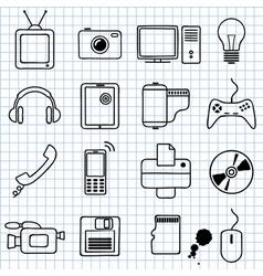 electronics vector image