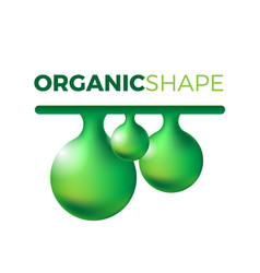 organic slime vector image