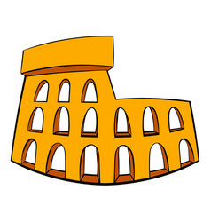 roman colosseum icon cartoon vector image
