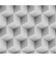 seamless dot pattern cube vector image