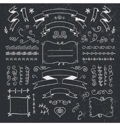 set of hand drawn vintage dividers frames vector image vector image