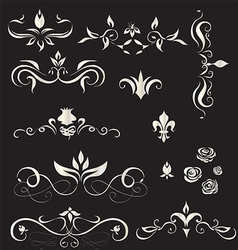 A set of vintage design elements - vector