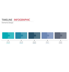 Abstract element timeline infographics design for vector