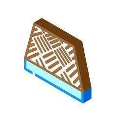 Anti-slip flooring isometric icon vector