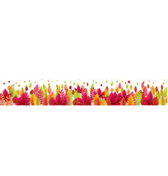 autumn banner with fall leaves vector image