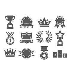Awards icons vector
