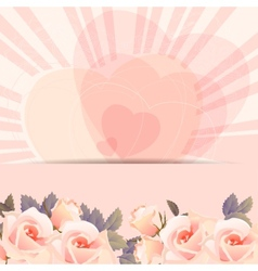 Background frame with bunch of roses vector
