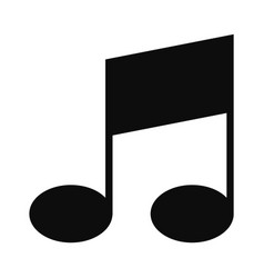 Bar musical note icon simple style vector