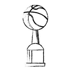 Basketball award cup sport win vector