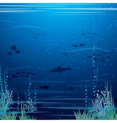 Beautiful Underwater Landscape Art vector image vector image