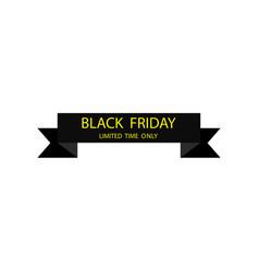 black ribbon banner black friday black ribbon vector image