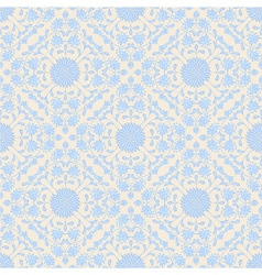 Blue seamless floral pattern vector image