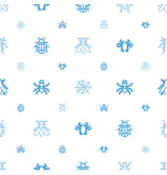 Bug icons pattern seamless white background vector