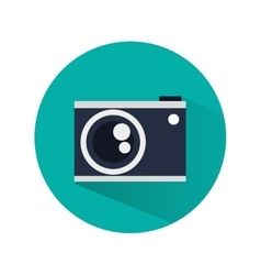 Camera over circle design vector image