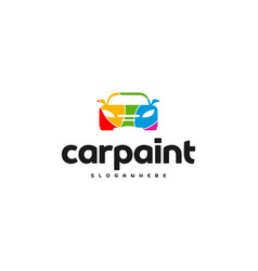Car paint logo template design vector