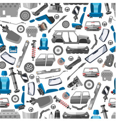 Car spares and auto parts seamless pattern vector