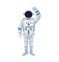 Cartoon astronaut standing icon colorful design vector
