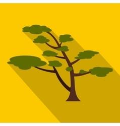 Cedar tree icon flat style vector