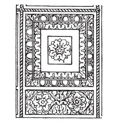 Ceiling panel typical roman panel vintage vector