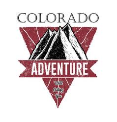 colorado adventure logo vector image