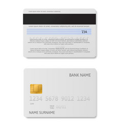 credit card white plastic debit cards vector image