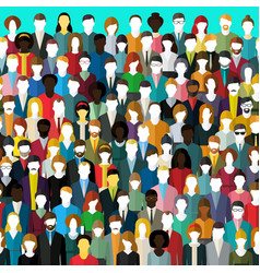 Crowd abstract people vector