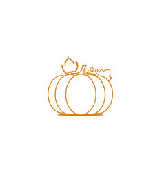 cute pumpkin for thanksgiving vector image