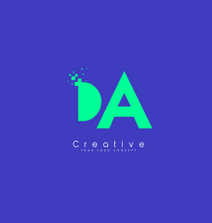 Da letter logo design with negative space concept vector