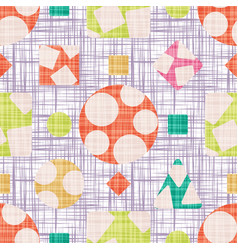 Design fabric with geometric shapes vector