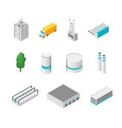 factory set isolated on a white background 3d vector image