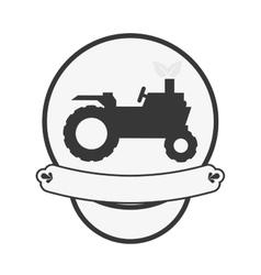 farm truck emblem icon image vector image