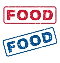 Food Rubber Stamps vector image