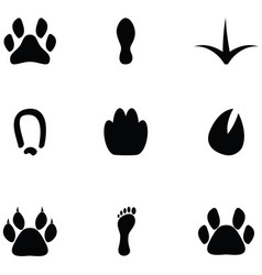 footprint icon set vector image