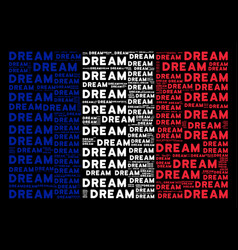 france flag collage of dream words vector image