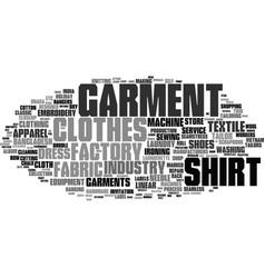 Garment word cloud concept vector