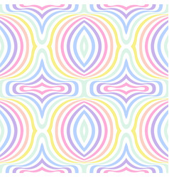 Geometric striped seamless background pastel vector
