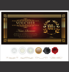 gift certificate retro vintage template 2 vector image